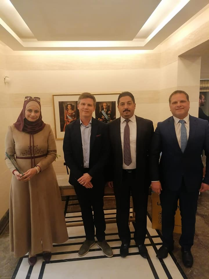 The Swedish Ambassador in Amman honored the achievements of Al-Hussein Bin Talal University in the Wikipedia project in Arabic